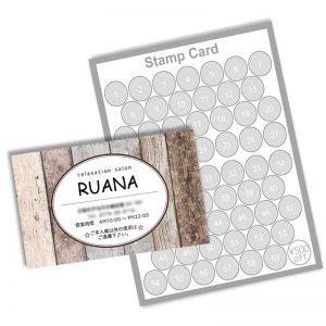 可愛いショップカードデザイン,2つ折り名刺