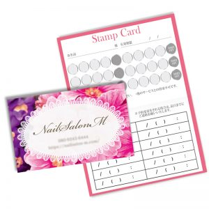 花の名刺,2つおりの名刺デザイン,かわいい名刺